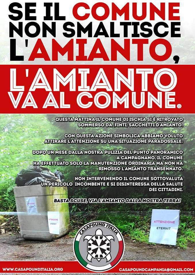 Emergenza amianto ad Ischia: la protesta di CasaPound