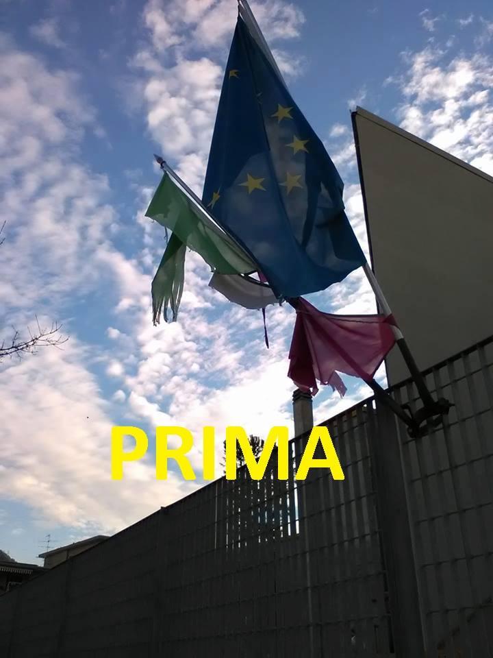 Piano di Sorrento, ripristinata la bandiera Italiana nella Scuola elementare Mariano Maresca nel quartiere di Mortora