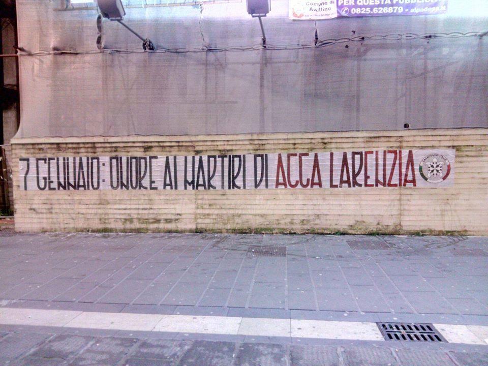 Acca Larentia: gli striscioni in Campania in ricordo della strage