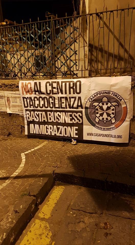 Cpi contro il centro d'accoglienz a San Giorgio a Cremano